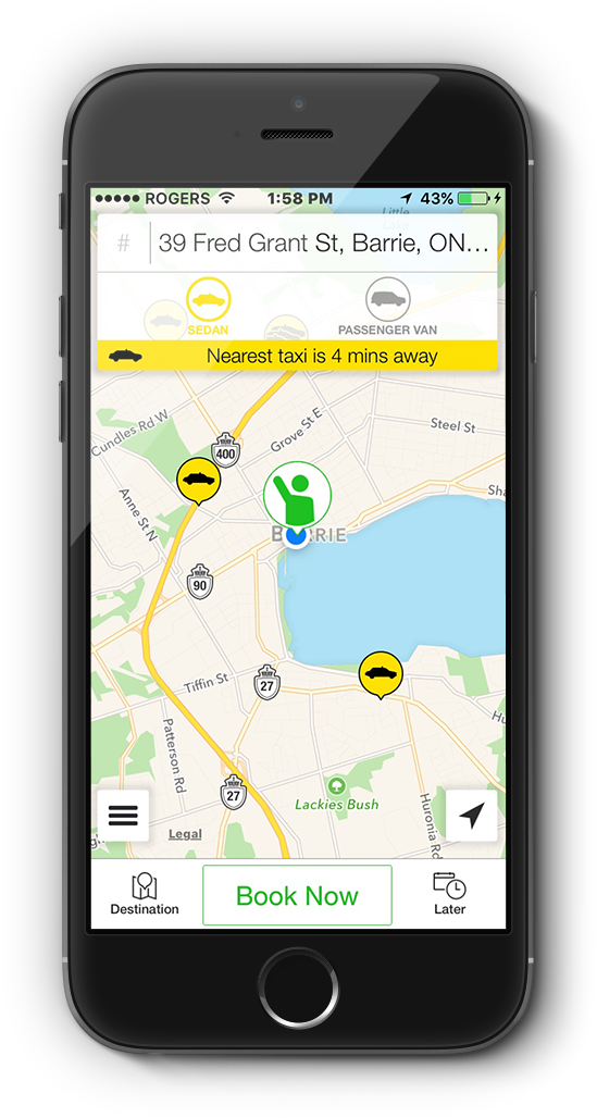 Mobile taxi app