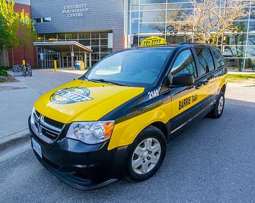 Passenger van taxi